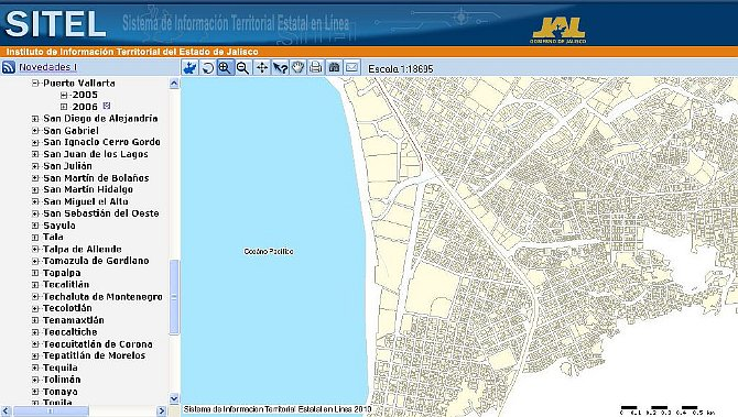 Working with QGIS in a spatial data infrastructure of Jalisco in Mexico