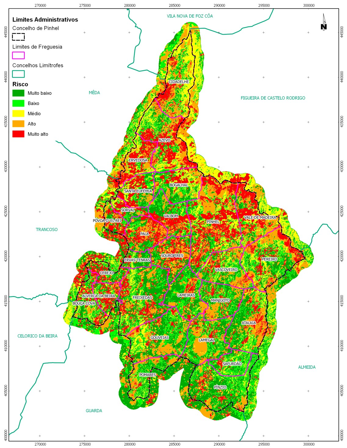 QGIS And Forest Fire Risk Mapping In Portugal - Portugal map of fires