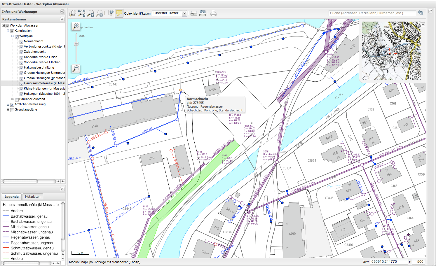 The use of QGIS in the Geodata Infrastructure of the City of