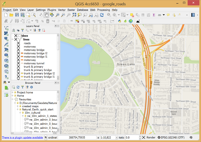 QGIS for Mac full screenshot
