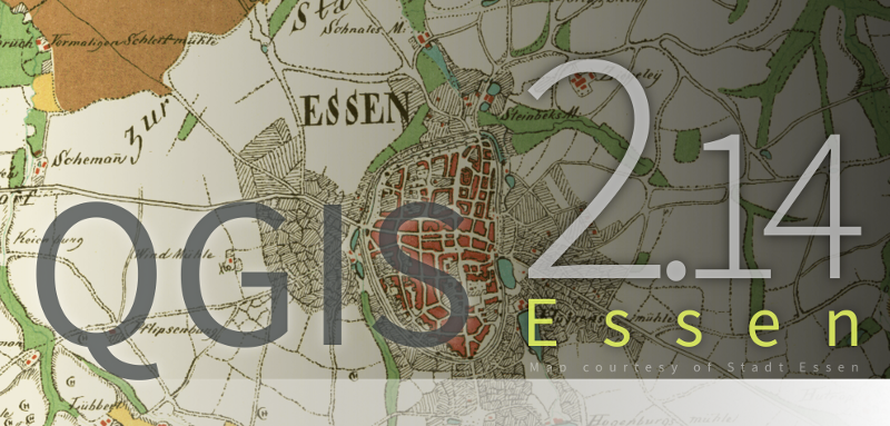 Splashscreen QGIS 2.14.0 Essen